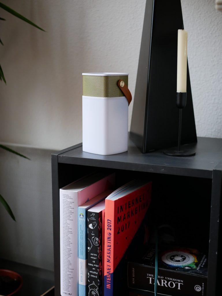Speaker on a shelf